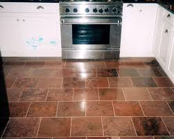 natural clefted stone kitchen flooring