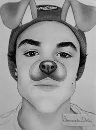 on twitter ethan dolan drawing
