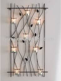 metal wall mounted tealight candle