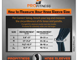 Design A Knee Sleeve Size Chart Freelancer