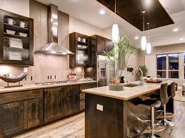 Dark Brown Kitchen Cabinets Kitchen White Tile Floor Brown Table Brown Chairs White Kitchen