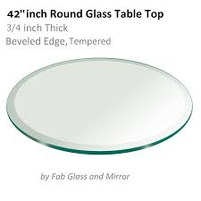 glass table top 42 inch round 3 4 inch thick beveled tempered