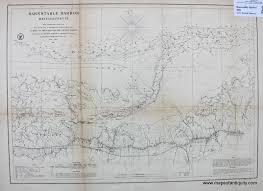 Barnstable Harbor Cape Cod Massachusetts 1861 Antique