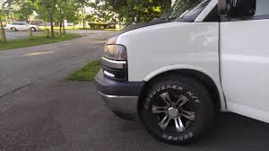 04 Chevy Express Custom DRL & Tail Lights - YouTube