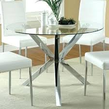 round glass table top and chairs dining room base for thick 48 1 2 inch
