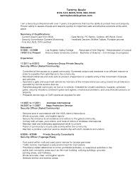 Security Officer Resume Objective Resume For Study
