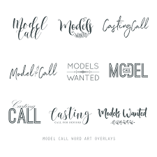 Word Models Model Call Word Art Overlays