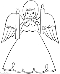 Small Picture angel drawings for christmas ornaments Christmas Angel Coloring