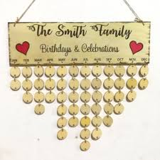 family celebrations diy wooden birthday calendar reminder board