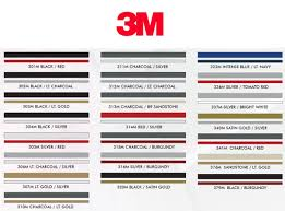 3m Pinstripe Tape Color Chart