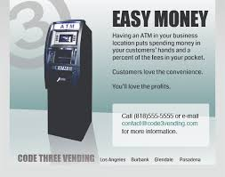 Atm Vending Machine Business Stunning ATM Vending Machine Landing Page Design Andrew Brennan