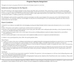 sample progress report assignment fig 1 sample progress report assignment