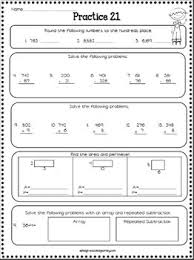3rd grade math review spiral review worksheets