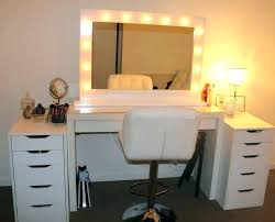 makeup vanity set furniture medium size of pertaining to with lights prepare 10
