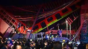 Vagões de metrô desabam após queda de ponte na Cidade do México, deixando  mais de 20 mortos