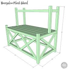 how to build a diy two tiered plant stand free plans and tutorial
