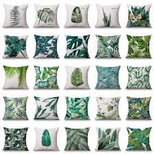 green decorative pillows. Beautiful Decorative Plant Cushion Cover Tropic Tree Green Throw Pillow Palm Leaf Decorative  Pillows Flower Inside I