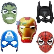 Halloween Superhero Kids Children Captain America Avenger Costume Mask Halloween Party Toy