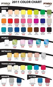 Pacific Polymers Color Chart Premo By Sculpey Color Chart Polymer Clay Art Polymer