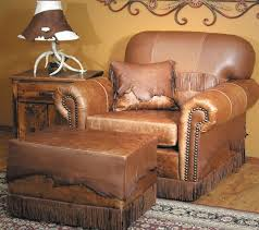 southwestern living room furniture. Furniture Wondrous Southwestern Living Room Using Antique Leather Armchair With Throw Pillows Cushions And Ottoman U