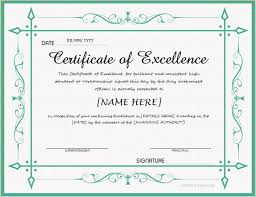 Certificate Of Excellence Template Word certificate of excellence word template certificate 10000 100 Templates Data 62