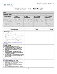 Employee Evaulation Form 9 Employee Evaluation Form Examples Pdf Examples