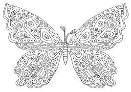 Farfalla Disegno Da Colorare Difficile Disegni Da Colorare E
