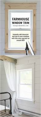 learn how to bulk up the trim around your windows for a beautiful farmhouse look