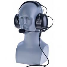 motorola cp185. impact pdm-2 heavy duty duall muff headset with replaceable cable for motorola cp185