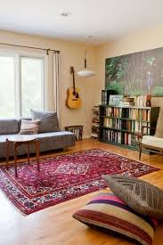 living room with persian rug