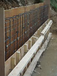 simple design how to build a concrete block wall foundation with retaining