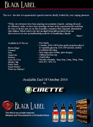 E-Generation Black Label E-Liquid, Coming This Month - Ecirette ...