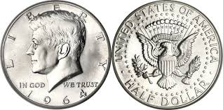 1964 Kennedy Half Dollar Accented Hair Value Chart Kennedy Half Dollars 1964 To Date Silver Clad Facts Images