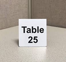 Amazon Com Numbered Metal Table Tent Signs Pack Of 25