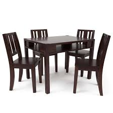 table 4 chairs set. babies \u0027r\u0027 us next steps table with storage and 4 chairs set - espresso toys\ n