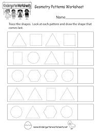Math Patterns Worksheets