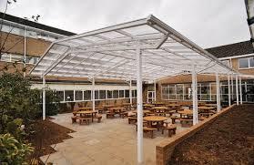 outdoor dining canopy at farmors school broxap