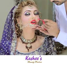 beautiful sehrish fatima with perfect styling in kashees makeover dress kashee s beauty parlour