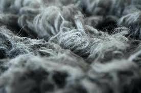grey flokati rug dark gray uk