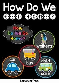 How We Get Home Chart How Do We Get Home Chart Inspiring Minds Classroom