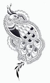 Indian Peacock Design Black And White Peacock Design Google Search Peacock