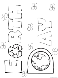 You can print these free earth day coloring pages right from your home computer and you'll have a fun activity for your kids ready to go in just a few this time of year is also great for some spring coloring pages. Earth Day Coloring Pages For Kids Printable Coloring4free Coloring4free Com