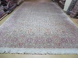 8 8 x 15 vintage karastan ivory kirman 708 american wool rug