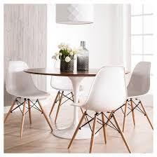 white round kitchen table. modern round kitchen table catalina dining - walnut, white : target