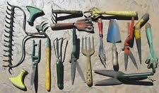 antique garden tools. Fine Tools Vtg Antique Primitive Garden Tools Rake Spade Claw Cutters Nozzle Metal  Wood Old And I