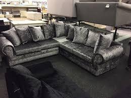 large crush velvet corner sofa