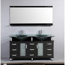60 double sink vanity top. 60 inch double bathroom vanity glass top with mirror sink i
