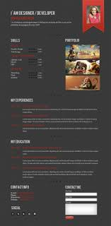 a few interesting resume cv website designs one page resume curriculum vitae website design