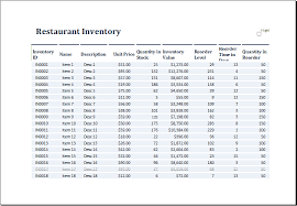 free excel inventory template ms excel restaurant inventory template excel templates