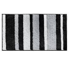 nice gray and white bathroom rugs interdesign bath rug stripz blackgraywhite 21 x 34